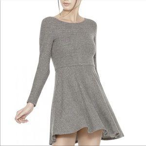 Alice + Olivia Grey Skater Style Mini Dress 6